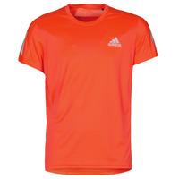textil Herre T-shirts m. korte ærmer adidas Performance OWN THE RUN TEE Solar / Rød
