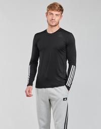 textil Herre Langærmede T-shirts adidas Performance TF LS FT 3S Sort