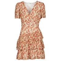 textil Dame Korte kjoler Moony Mood ORNAMA Hvid / Flerfarvet