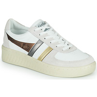 Sko Dame Lave sneakers Gola GRANDSLAM TRIDENT METALLIC Beige / Guld
