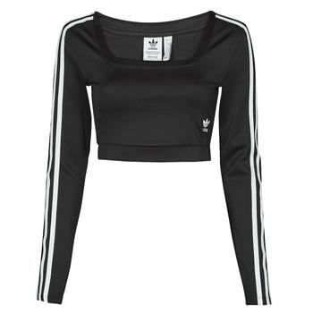 textil Dame Langærmede T-shirts adidas Originals LONG SLEEVE Sort