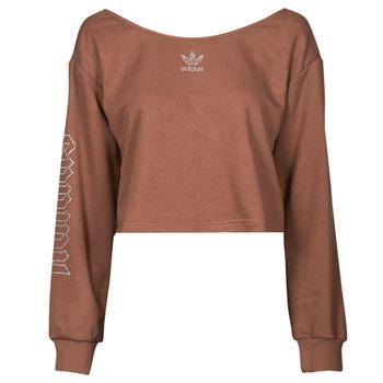 textil Dame Sweatshirts adidas Originals SLOUCHY CREW? Brun