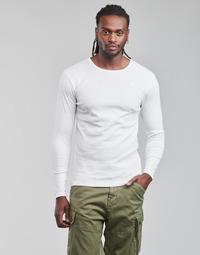 textil Herre Langærmede T-shirts G-Star Raw BASE R T LS 1-PACK Hvid