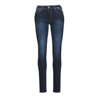 textil Dame Smalle jeans Le Temps des Cerises PULP HIGH NAPLES Blå / Sort