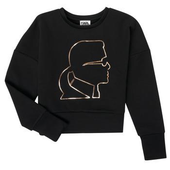 textil Pige Sweatshirts Karl Lagerfeld CORNALINE Sort