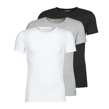 textil Herre T-shirts m. korte ærmer Tommy Hilfiger STRETCH TEE X3 Hvid / Grå / Sort