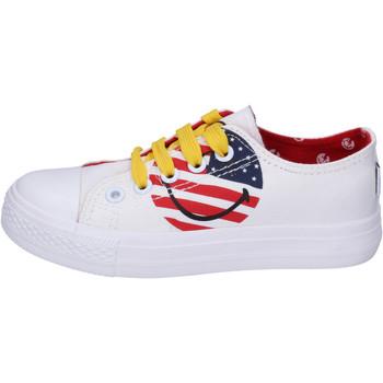 Sko Dreng Lave sneakers Smiley  Hvid