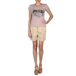 textil Dame Shorts Diesel HANTU BEIGE