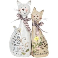Indretning Små statuer og figurer Signes Grimalt Par Katte Set 2 Enheder Multicolor