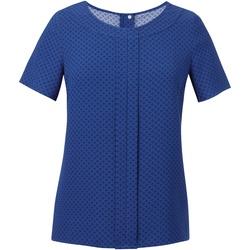 textil Dame Toppe / Bluser Brook Taverner Crepe De Chine Royal Blue/ Navy