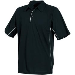 textil Herre Polo-t-shirts m. korte ærmer Tombo Teamsport TL065 Black/Black/White piping
