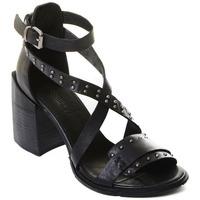 Sko Dame Højhælede sko Rebecca White T0501 |Rebecca White| D??msk?? sand??ly na vysok??m podpatku z ?ern??