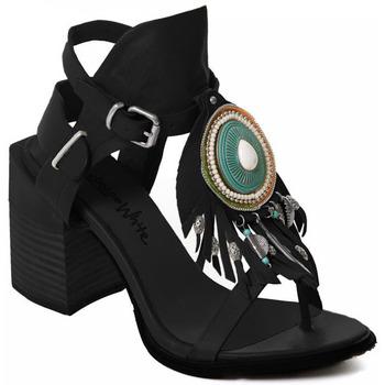 Sko Dame Højhælede sko Rebecca White T0509 |Rebecca White| D??msk?? sand??ly na vysok??m podpatku z ?ern??