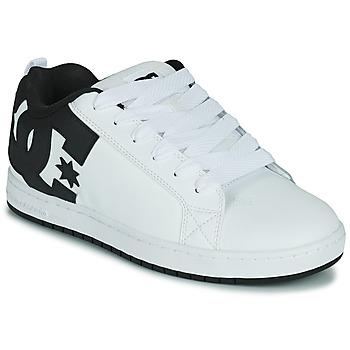 Sko Herre Skatesko DC Shoes COURT GRAFFIK Hvid / Sort