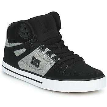 Sko Herre Høje sneakers DC Shoes PURE HIGH-TOP WC Sort / Grå
