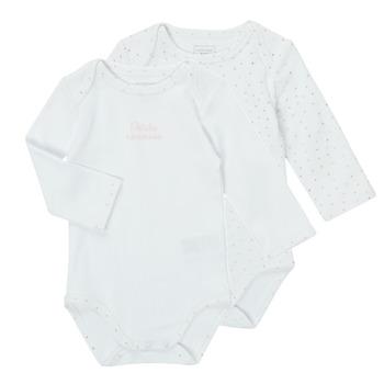 textil Pige Pyjamas / Natskjorte Carrément Beau ANTHRACITE Hvid