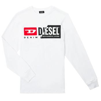 textil Børn Langærmede T-shirts Diesel TDIEGOCUTY ML Hvid