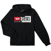 textil Børn Sweatshirts Diesel SGIRKHOODCUTYX OVER Sort