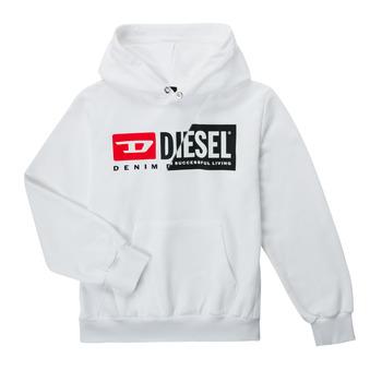 textil Børn Sweatshirts Diesel SGIRKHOODCUTYX OVER Hvid