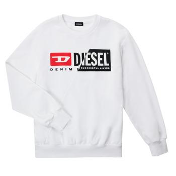 textil Børn Sweatshirts Diesel SGIRKCUTY OVER Hvid