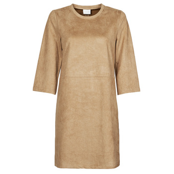 textil Dame Korte kjoler Vila VISUDA Brun