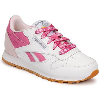 Sko Børn Lave sneakers Reebok Classic CL LTHR Hvid / Pink