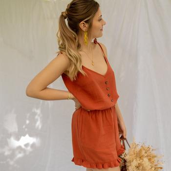 textil Dame Buksedragter / Overalls Céleste NEROLI Terrakotta