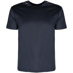 textil Herre T-shirts m. korte ærmer Les Hommes  Blå