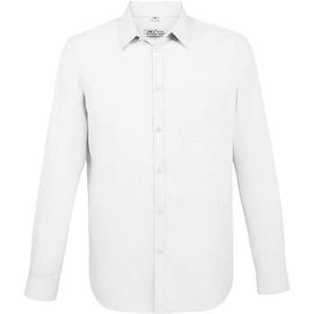 textil Herre Skjorter m. lange ærmer Sols BALTIMORE FIT BLANCO Blanco