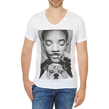 textil Herre T-shirts m. korte ærmer Eleven Paris WOLY M Hvid