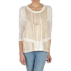 textil Dame Langærmede T-shirts Eleven Paris ANGIE Hvid