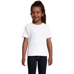 textil Pige T-shirts m. korte ærmer Sols CHERRY Blanco Blanco