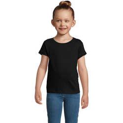 textil Pige T-shirts m. korte ærmer Sols CHERRY Negro Negro