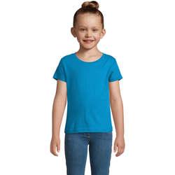 textil Pige T-shirts m. korte ærmer Sols CHERRY Aqua Azul