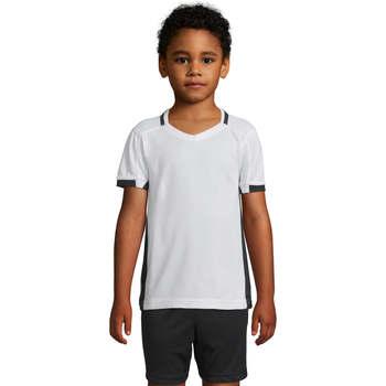textil Pige T-shirts m. korte ærmer Sols CLASSICO KIDS Blanco Negro Blanco