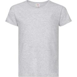 textil Pige T-shirts m. korte ærmer Fruit Of The Loom 61005 Heather Grey