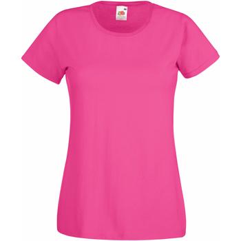 textil Dame T-shirts m. korte ærmer Fruit Of The Loom 61372 Fuchsia