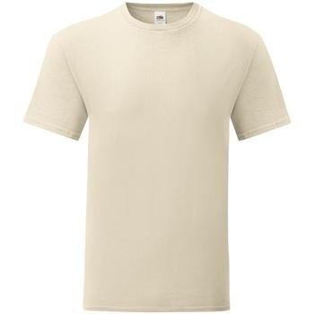 textil Herre T-shirts m. korte ærmer Fruit Of The Loom 61430 Natural