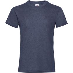 textil Pige T-shirts m. korte ærmer Fruit Of The Loom 61005 Vintage Heather Navy