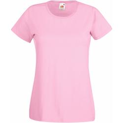 textil Dame T-shirts m. korte ærmer Fruit Of The Loom 61372 Light Pink