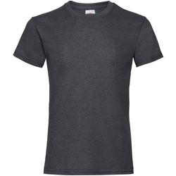 textil Pige T-shirts m. korte ærmer Fruit Of The Loom 61005 Dark Heather