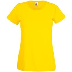textil Dame T-shirts m. korte ærmer Fruit Of The Loom 61372 Yellow