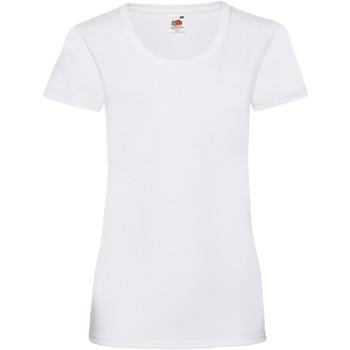 textil Dame T-shirts m. korte ærmer Fruit Of The Loom 61372 White