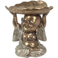 Indretning Små statuer og figurer Signes Grimalt Buddha Med Bladbakke Dorado