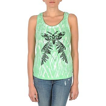 textil Dame Toppe / T-shirts uden ærmer Eleven Paris PAPILLON DEB W Grøn / Hvid