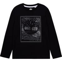 textil Dreng Langærmede T-shirts Timberland AIFRET Sort