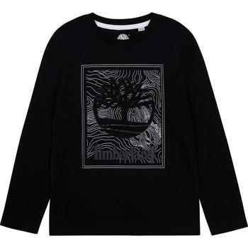 textil Dreng Langærmede T-shirts Timberland BAGIRI Sort