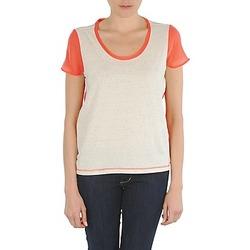 textil Dame T-shirts m. korte ærmer Eleven Paris EDMEE Beige / Orange