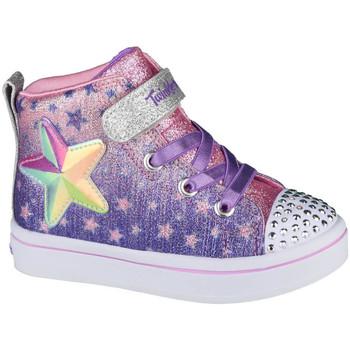 Sko Børn Høje sneakers Skechers Twi-Lites Lil Starry Gem Violet