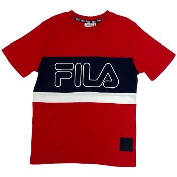 textil Børn T-shirts m. korte ærmer Fila 688138 Rød